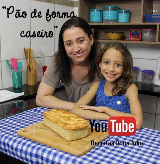 PÃO DE FORMA CASEIRO #RECEITAVIDEO