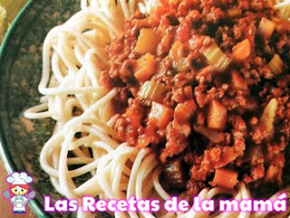 Receta de Espaguetis al ragú