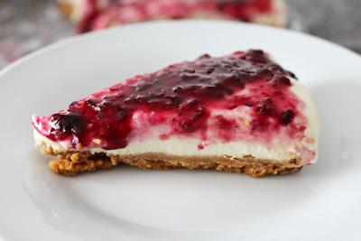 Uma cheesecake mais gostosa que bonita!