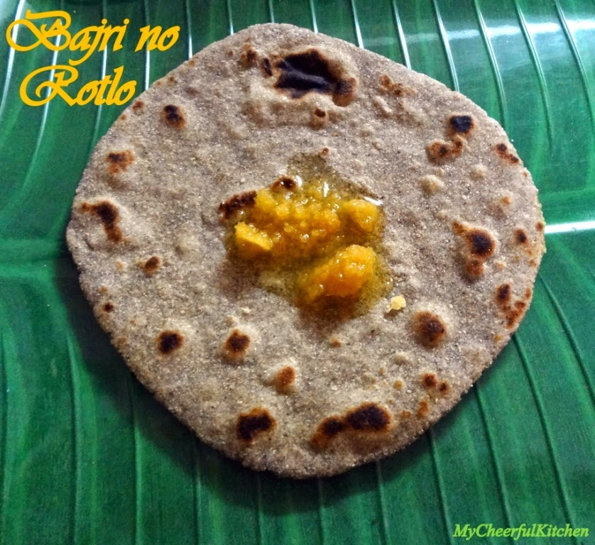 Bajri no Rotlo (Millet flat bread)