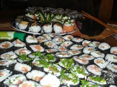 sushi ingredientes recheio