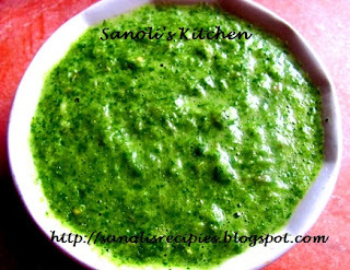 GREEN CHUTNEY (HARI CHUTNEY) FOR CHAAT