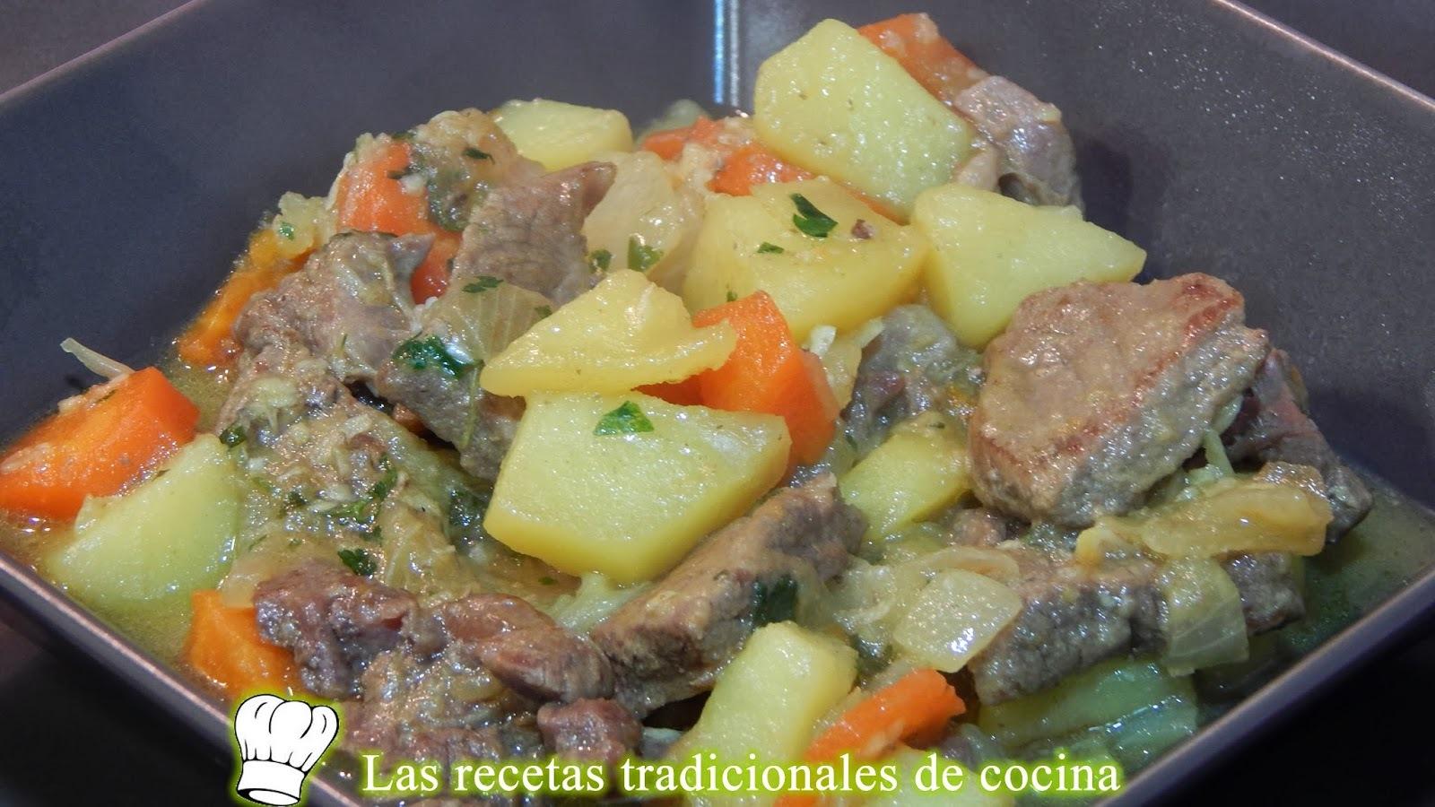 Receta de estofado de ternera a la Castellana