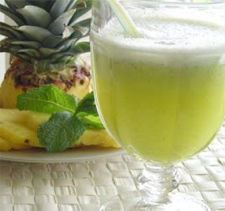 suco berinjela e casca abacaxi