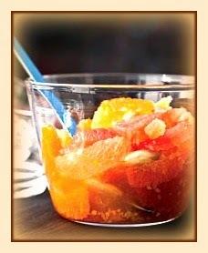 Salada cítrica com gengibre cristalizado