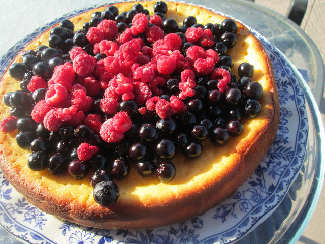 Ricotta tart with blueberries topping ....and Happy Birthday...to me