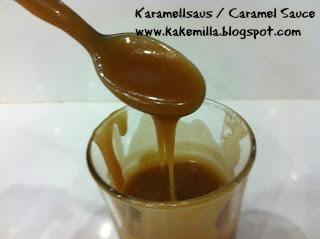 Karamellsaus til Is, Kakefyll etc. / Caramel Sauce for Ice Cream, Cake-filling etc