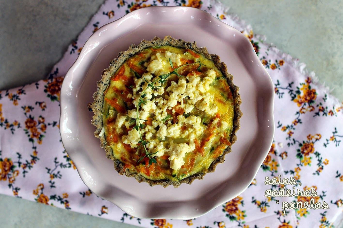 Torta de Cenoura com Abobrinha, Com ou Sem Glúten. Você Decide!