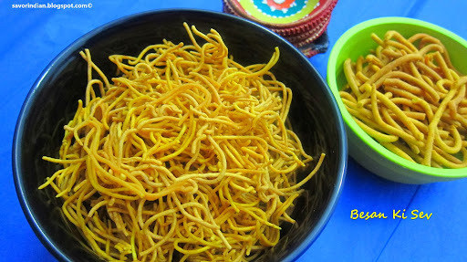 Besan Sev Recipe /Khara Sev Recipe -Easy Indian Diwali Snack