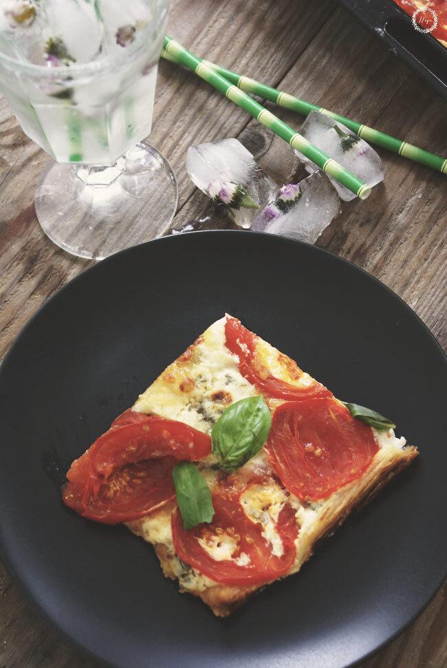 Tomato Basil Tart / Slano pecivo s paradizniki in baziliko