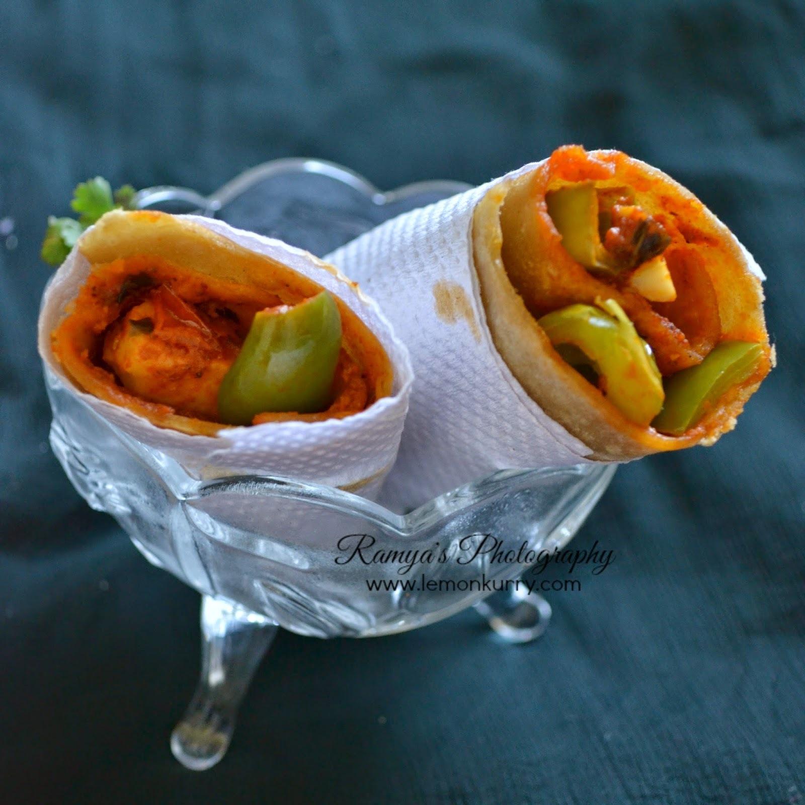 paneer tikka kathi roll - kathi wrap recipe - paneer recipes