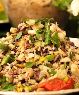 saladas decoradas para buffet