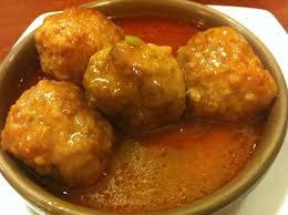 comida campechana-Albóndigas en chipotle