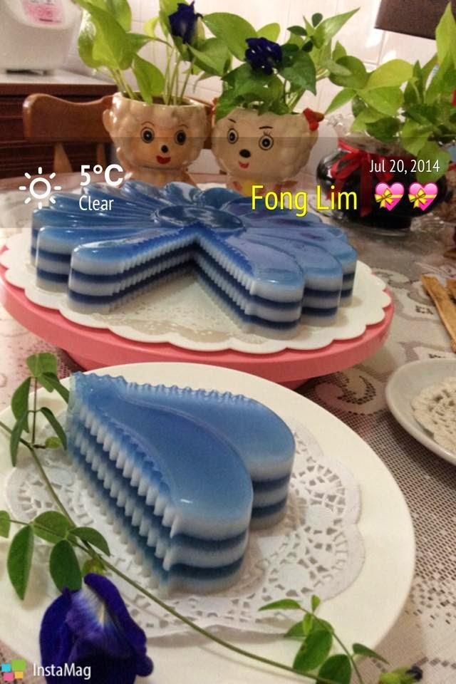 ~~  Blue Pea Jelly Cake ❤ 蓝花燕菜蛋糕  ~~