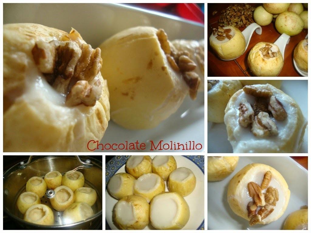 Guayabas rellenas de gelatina de yogur