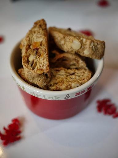 Christmas Almond, Orange and Pistachio Biscotti
