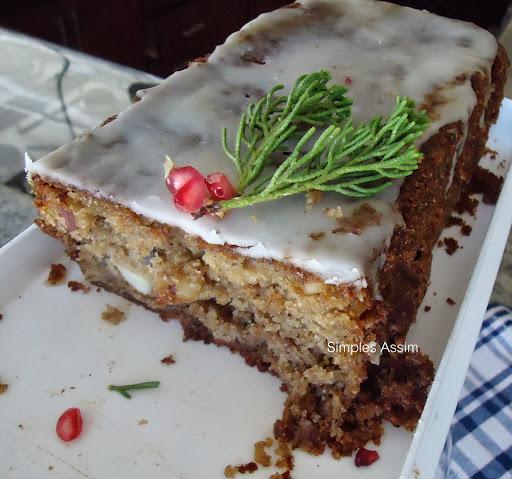 bolo de natal castanha e nozes
