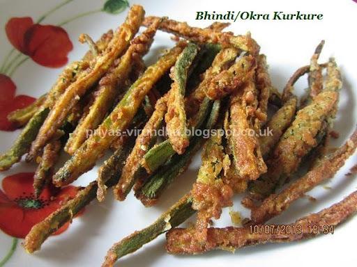 Bhindi/Okra/Ladies Finger Kurkure [Crispy Okras]