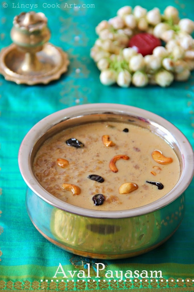 Aval Payasam in Jaggery/ Red Aval Payasam/ Rice Flakes Payasam/ Poha Payasam