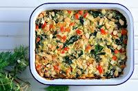 Γιαουρτένια χορτόπιτα με αμύγδαλα, χωρίς φύλλο