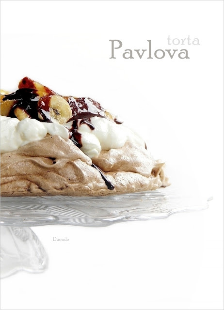 Kakaós Pavlova torta