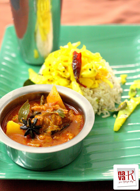 Simple Mutton Curry With Cumin Coriander Rice And Yellow Cabbage