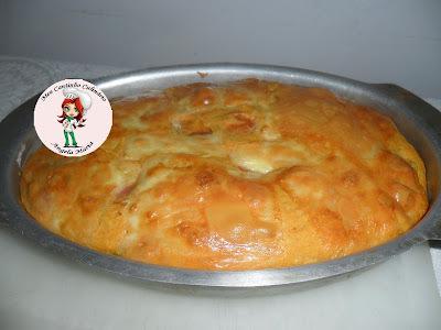 Torta salgada de abobrinha e salsicha