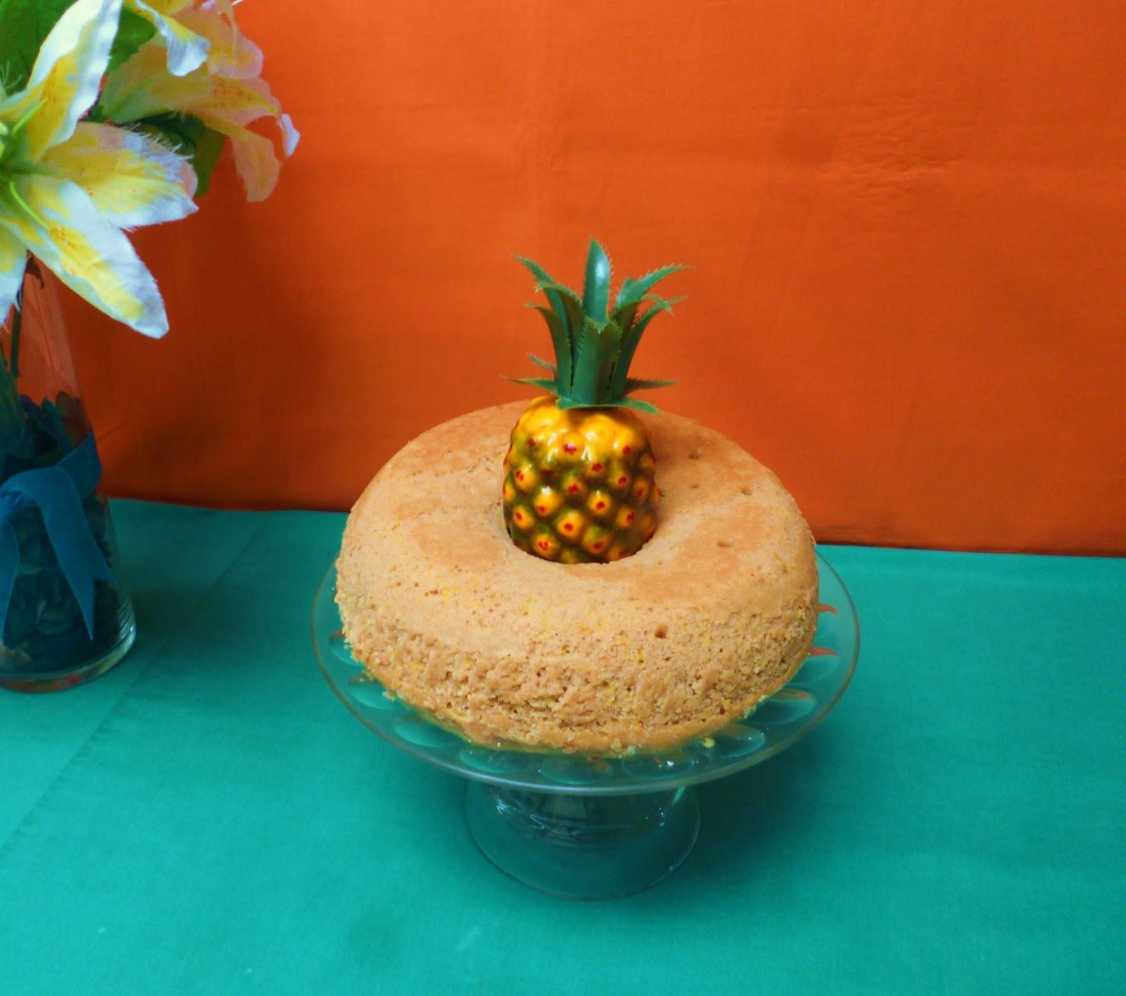 Queque con piña y naranja