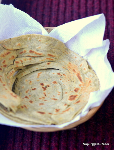 The art of making perfect Flaky Lachha Parathas.. Step by Step