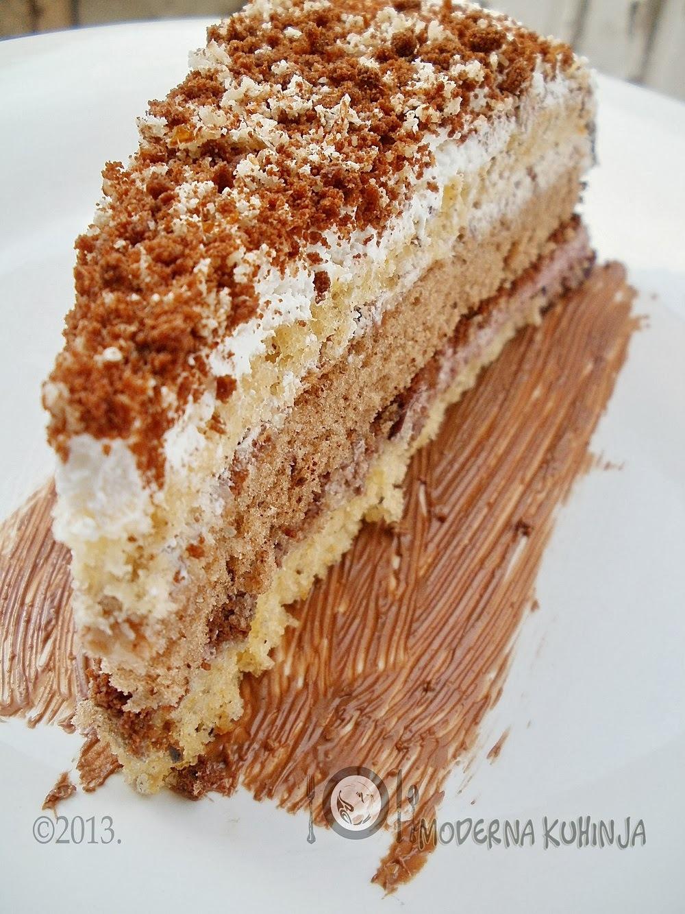 [Kemija okusa na nepcu] : Mrvičasta torta sa stracciatella obrubom