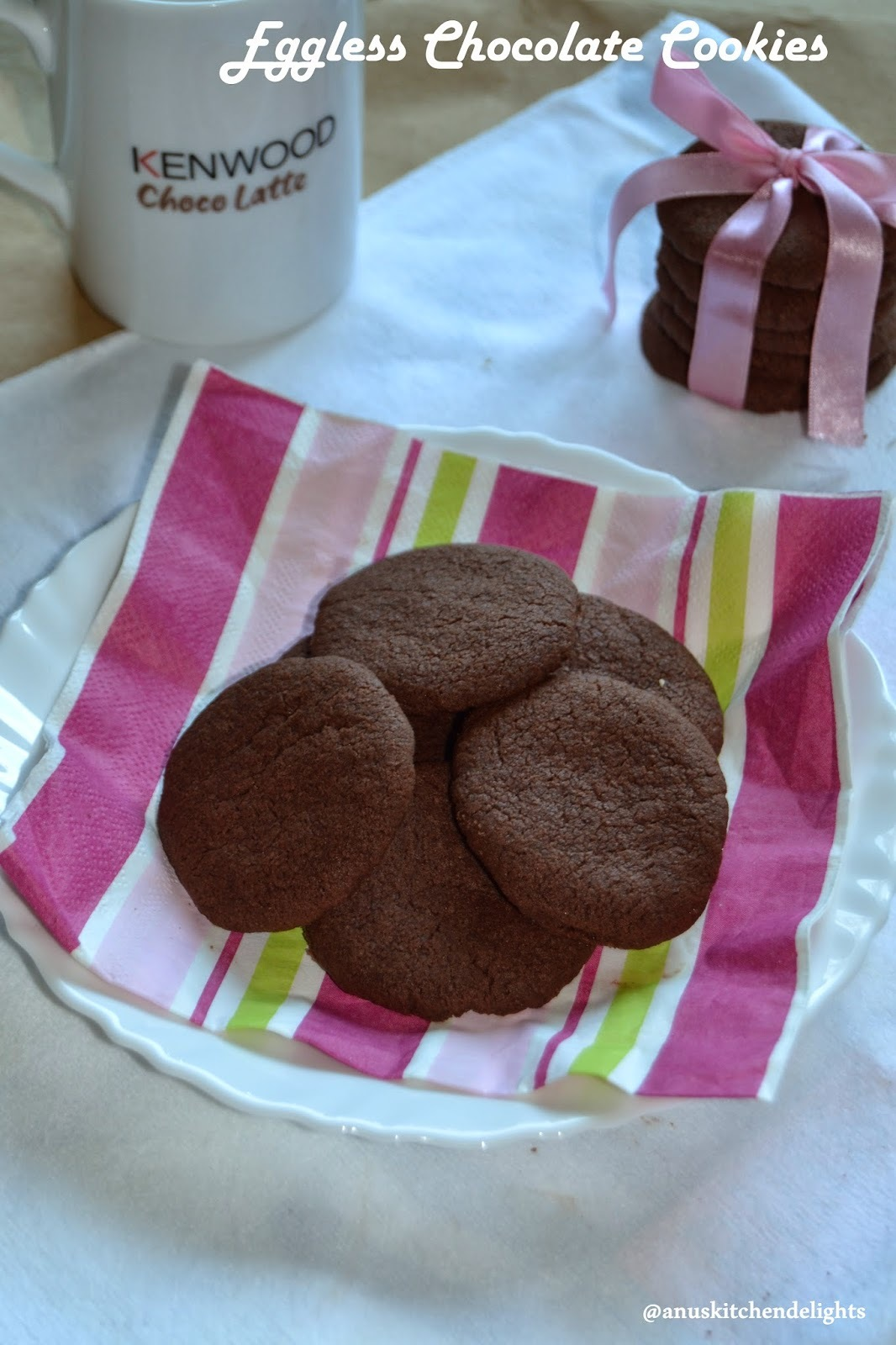 Eggless Chocolate cookies / Melting moments- chocolate ccokies