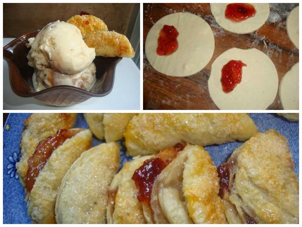 Empanadas de Hojaldre rellenas de fresa