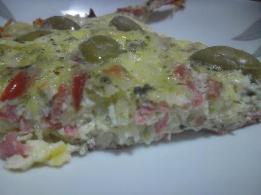 omelete de forno com batata