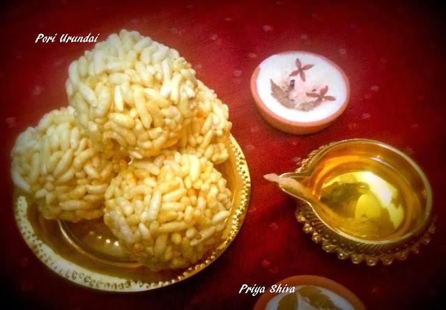 Pori Urundai / Puffed rice sweet balls