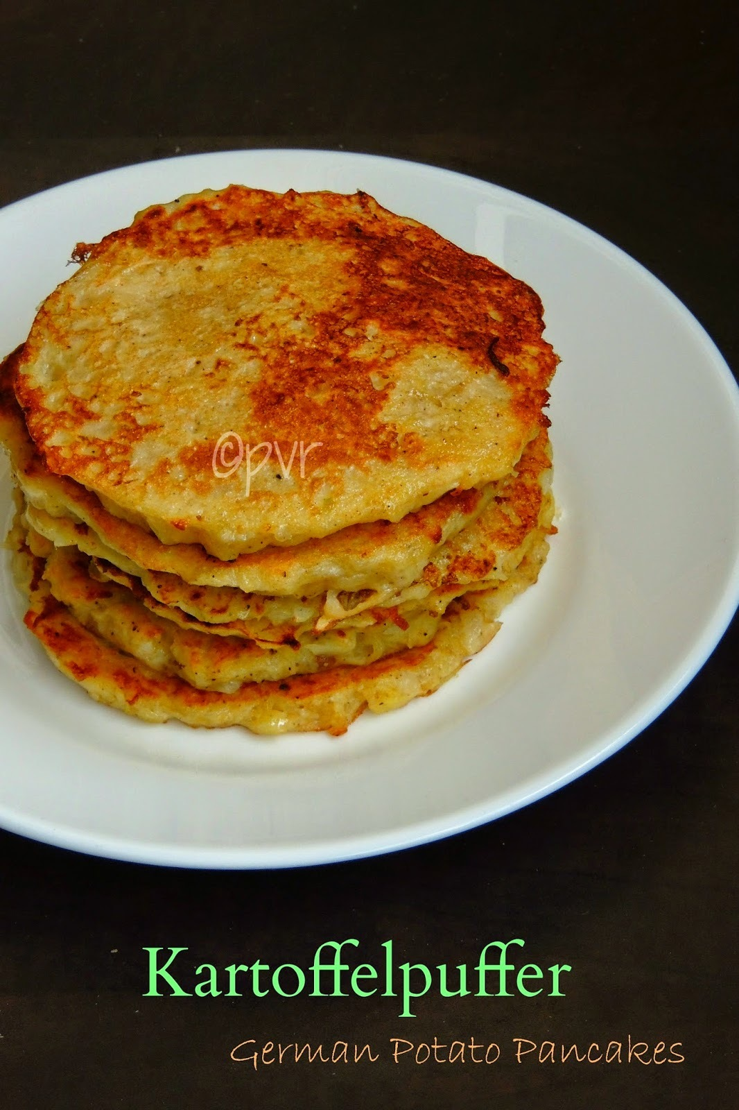 Kartoffelpuffer/German Potato Pancakes ~~ German Cuisine