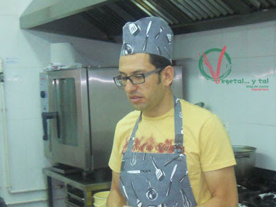 Taller de cocina vegetariana con cereales en restaurante Maná
