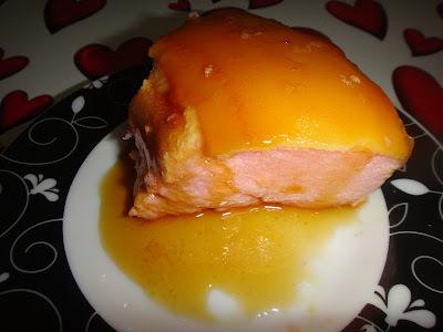 Pudim de claras sabor morango