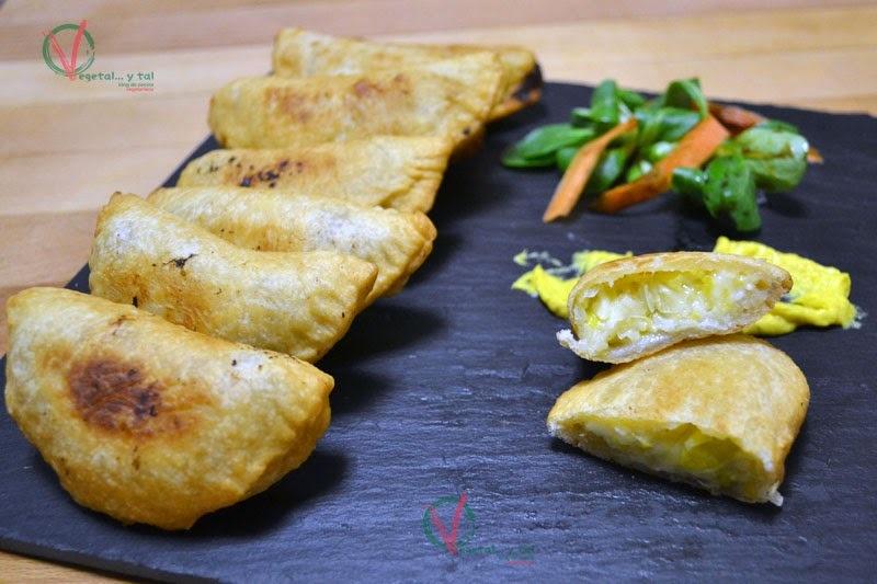 Empanadillas de puerro y feta