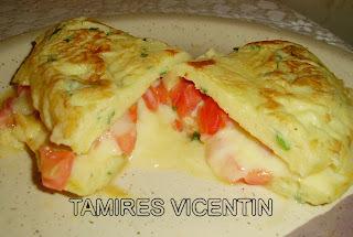 omelete com miojo mais voce