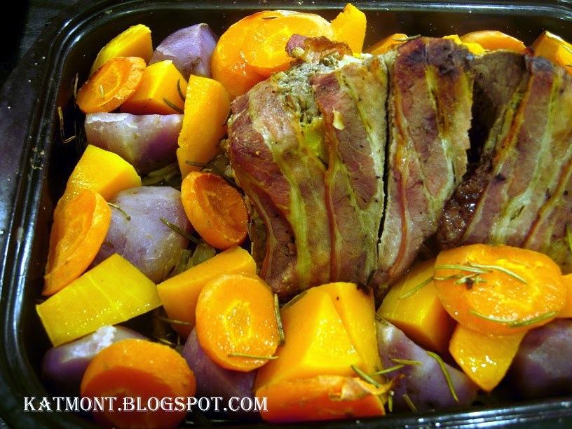 Carne assada com legumes - Rôti de boeuf aux légumes