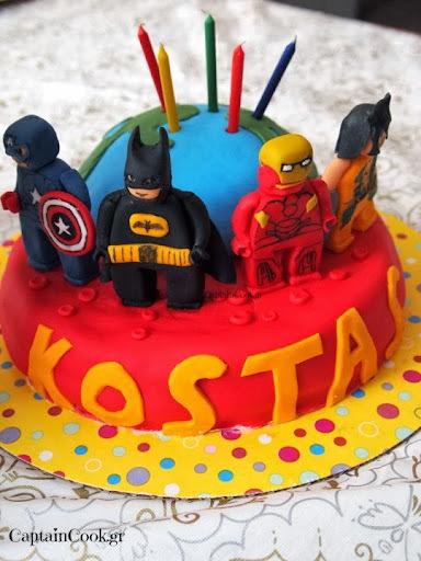 Lego Super Heroes Cake κ εύκολα Μελομακάρονα