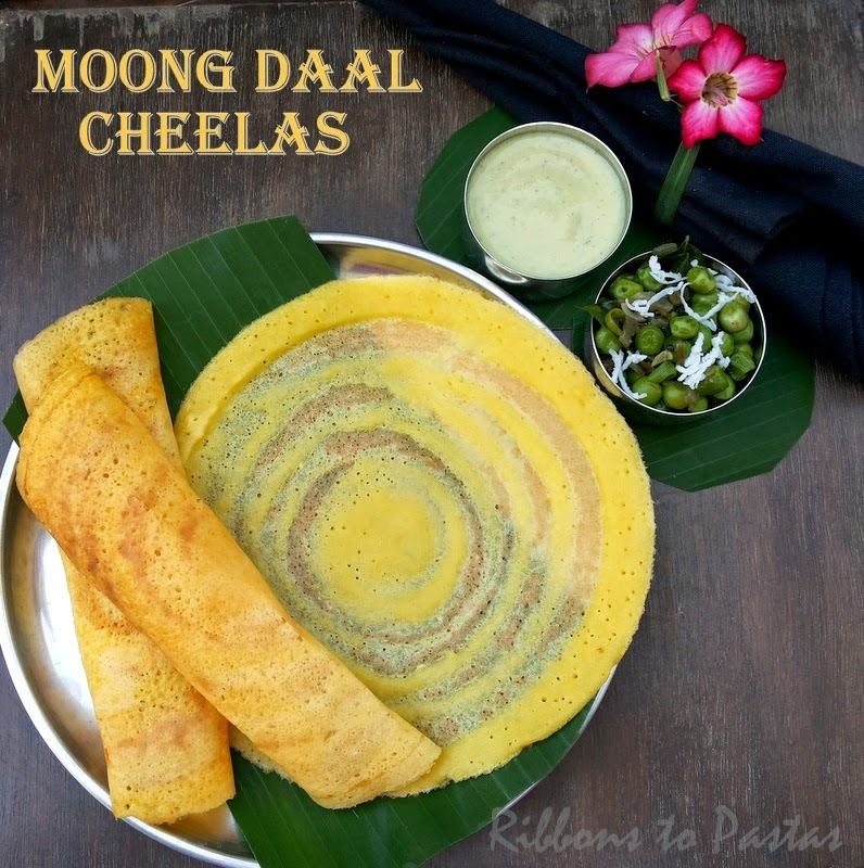 Moong Daal Cheelas