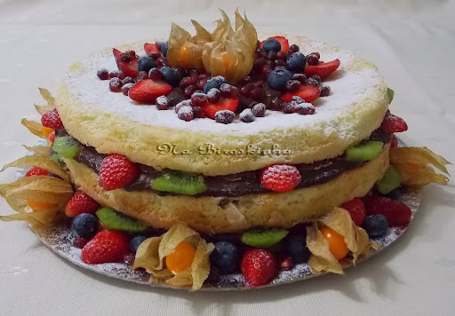 Naked Cake de Laranja com Chocolate