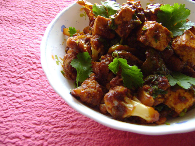 Cauliflower and Paneer Masala