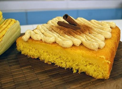 de bolo de milho de espiga no liquidificador cremoso