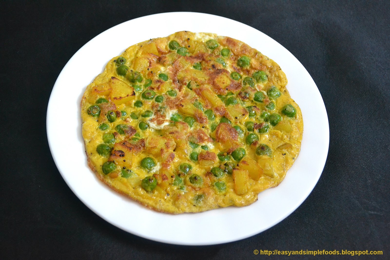 Potato Peas Omelette
