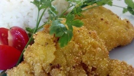 Empanado especial com raspas de laranja (crocante e saboroso)