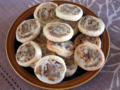 Blue Cheese and Walnut Pastry Nibbles