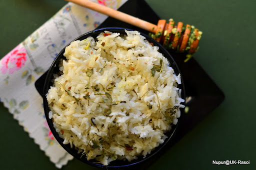 Coconut Rice with Fenugreek Seeds