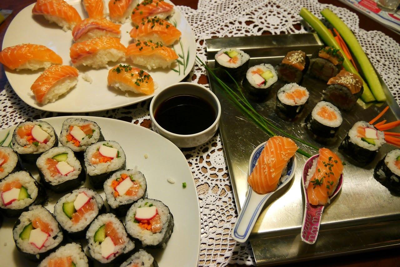 Ako sme robili sushi ... domáci bar